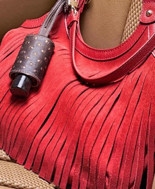 Galeriebild Handtasche rot CarryME-Set Niete