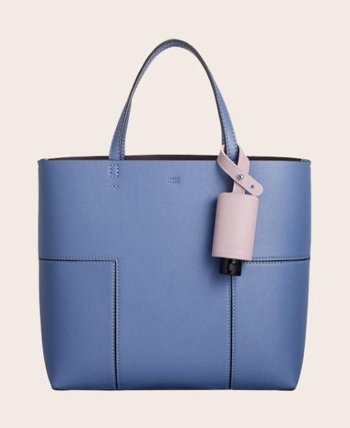 CarryME-Set CLASSIC rosa RefreshME Handgel Handtasche blau