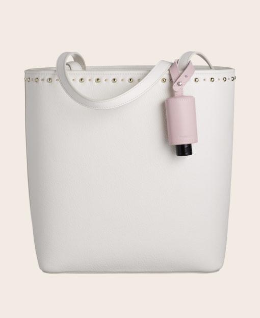 RefreshME Handgel CarryME-Set CLASSIC rosa Handtasche creme weiß
