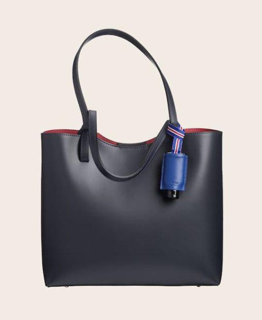Hygiene-Handgel Leder Etui CarryME-Set PURE electric blue Tasche blau