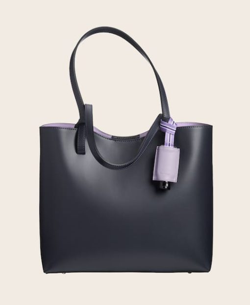 Hygiene-Handgel Leder Etui CarryME-Set PURE orchidea Tasche blau