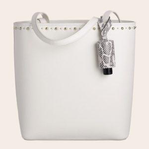 CarryME-Set TREND Schlange Tasche weiß Handgel