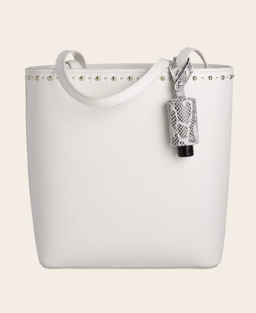CarryME-Set TREND Schlange Tasche weiß Handgel Leder-Etui