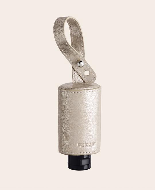 CarryME-Set TREND gold Hygiene Handgel Leder Taschenanhänger