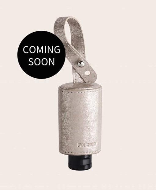 CarryME-Set TREND gold Hygiene Handgel Leder Taschenanhänger coming soon