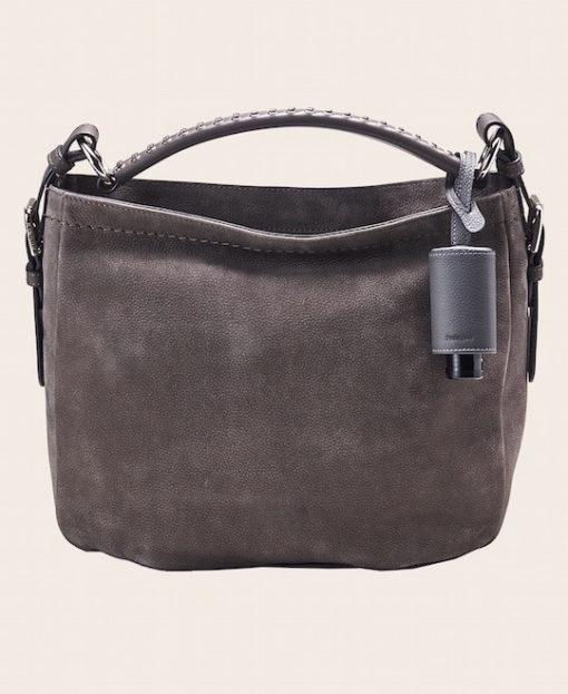 Hygiene Handgel Taschenanhänger grau Tasche grau