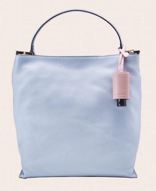 Hygiene Handgel Taschenanhänger rose Tasche hellblau