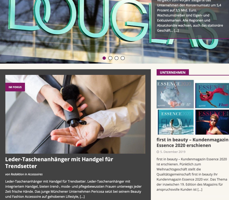 Hygiene Hand Gel Bundesverband Parfümerien Pericosa