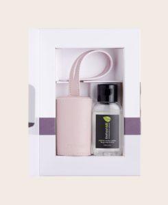 Hygiene Handgel RefreshME Leder-Etui Verpackung CarryME-Set Classic