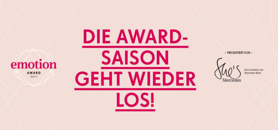 Pericosa nominiert für EMOTION.award 2017