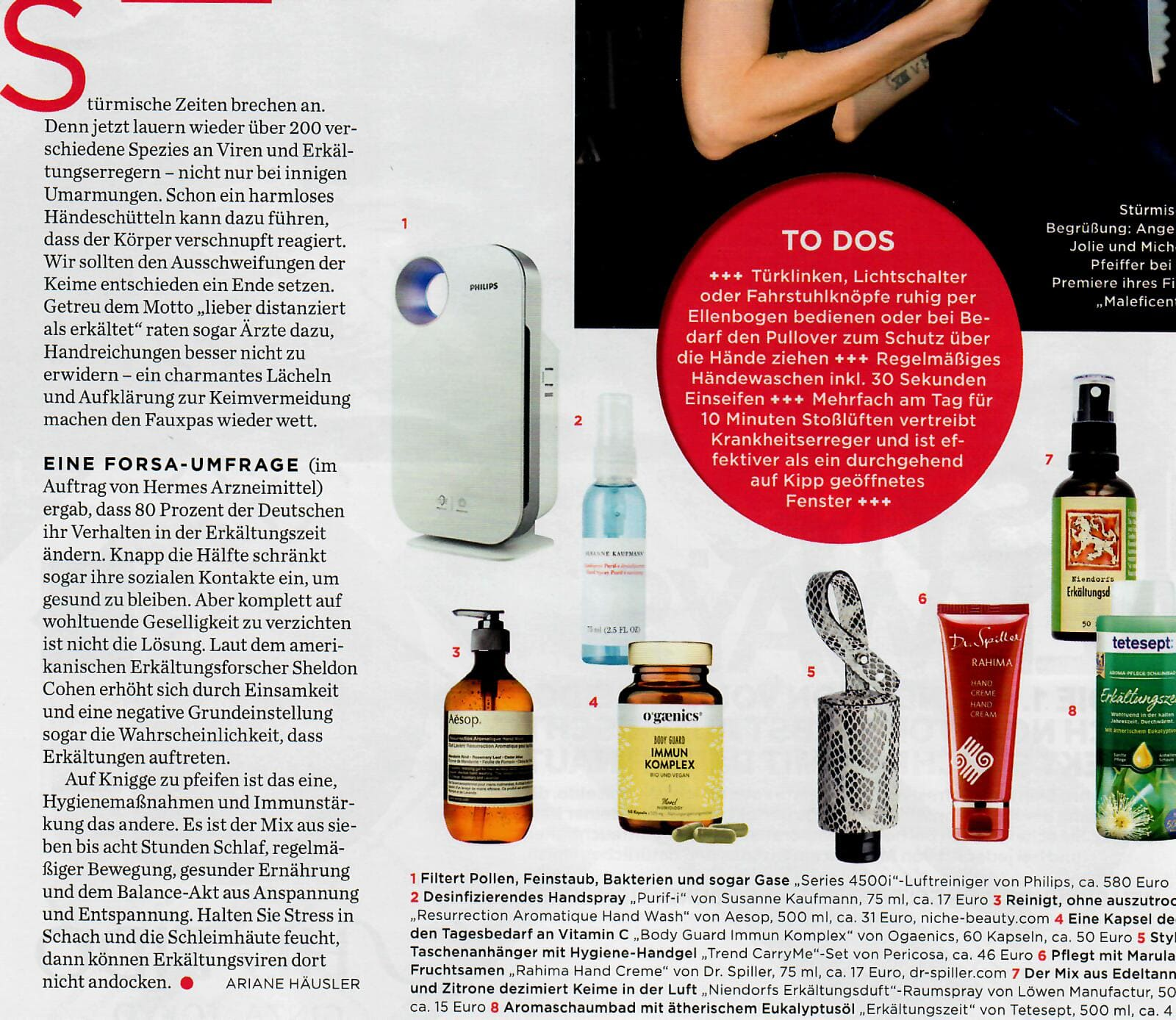 RefreshME Hygiene Handgel Gala Beauty Keime Leder-Etui