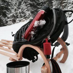 Winter Schlitten Rucksack Thermoskanne Hygiene-Handgel