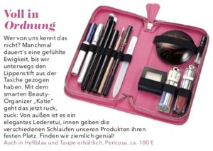 Tipp Magazin Meins Kosmetik-Etui aus Leder Pericosa