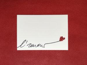 Valentinstag Postkarte L'Amour